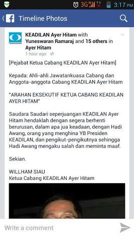 DAP dan PKR Mula Keluarkan Arahan Boikot Serta Sisihkan Hadi Awang