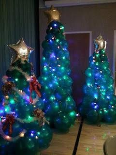 Lighted Balloon Christmas Tree Columns Decorations