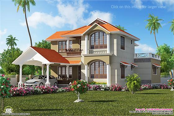 Kerala villa plan