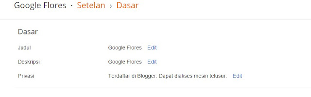 Pengaturan Dasar Blog Agar Mudah Di Indeks Google