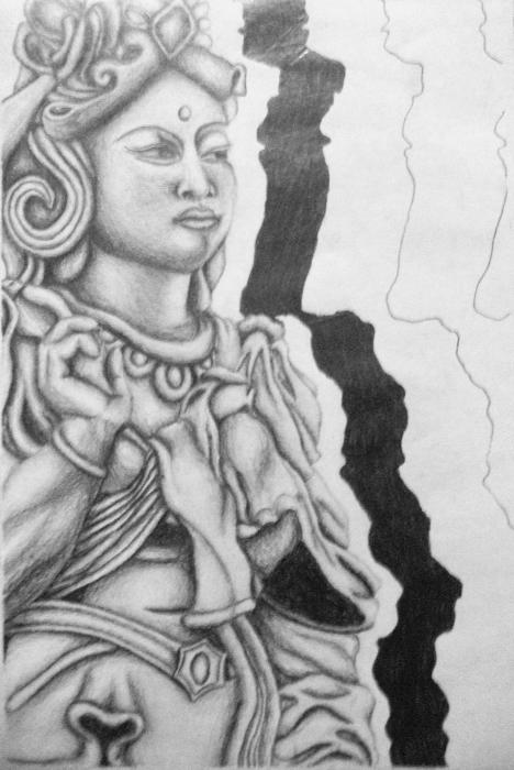Pencil Sketches Hindu Gods