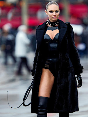 candice swanepoel vogue wild cat whip fetish fashion latigo