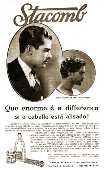 Produto para cuidar dos cabelos dos homens: Stacomb, diretamente do começo dos anos 40.