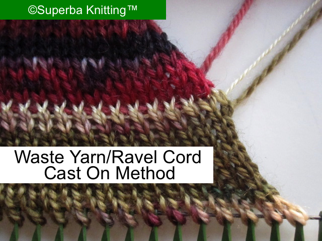 Knitting Stitches On Waste Yarn : Superba Knitting : Review Of Cast On Methods For Home Knitting Machines. ?Pat...