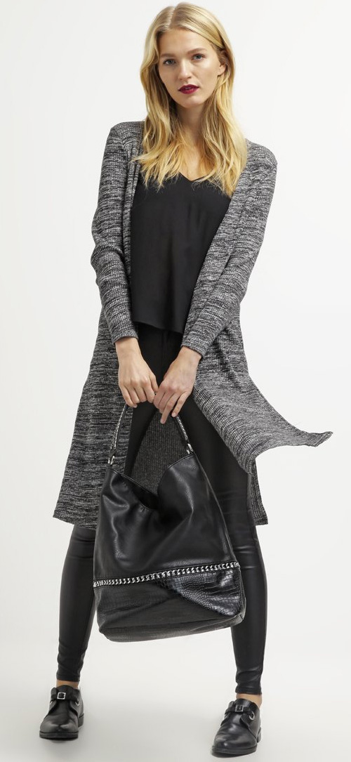Gilet femme gris chiné ONLY
