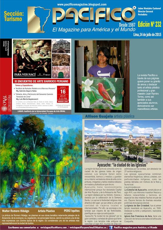 Revista Pacífico Nº 232 Turismo