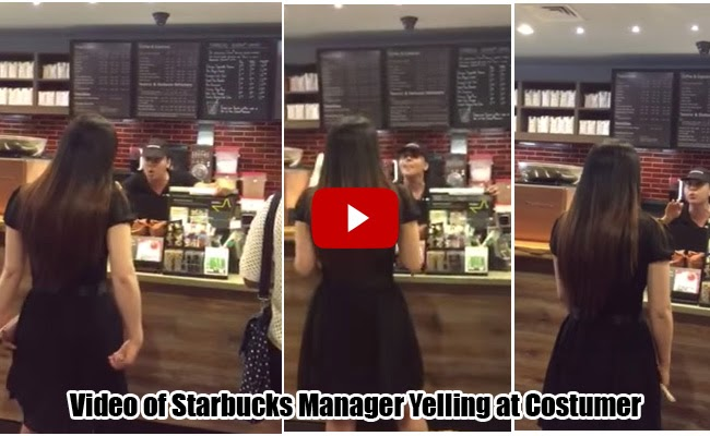 New York:Starbucks Manager Yelling at Costumer because of Cookie Straw Goes Viral