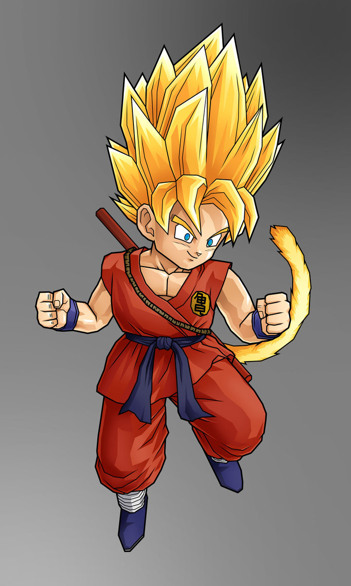 Goku As A Super Saiyan 2 Before Ascending To 3 During The Battle Against Majin Buu