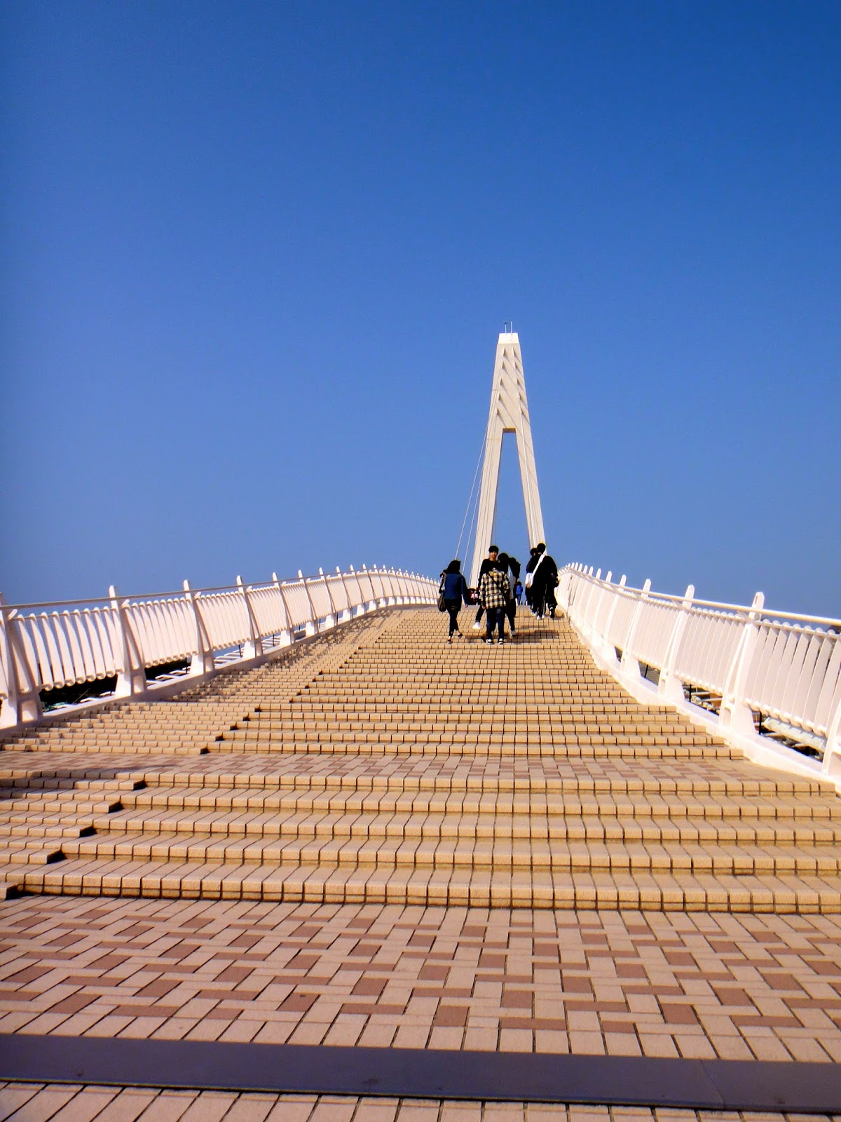 Crossing Lover's Bridge Tamsui Taiwan