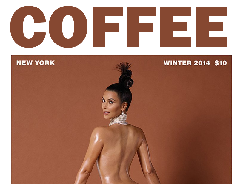 Kim Kardashian makes fresh coffee