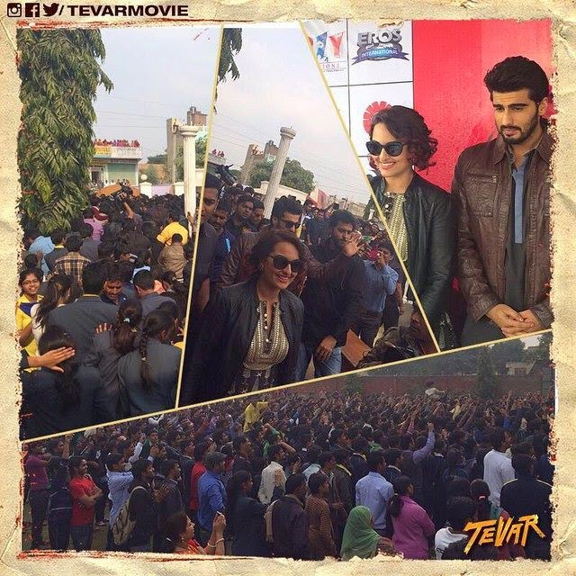Sonakshi Sinha and Arjun Kapoor show their TEVAR in Jaipur!