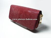 Dompet Wanita Kulit Pari Original – Merah Maroon