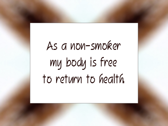 SMOKE-FREE affirmation