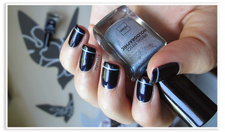 manicura azul oscuro elegante