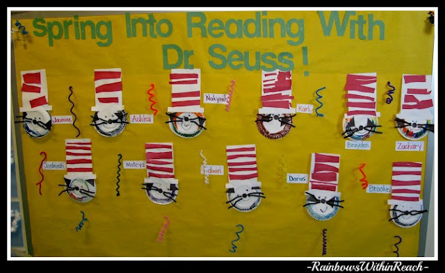 Dr. Seuss Cat in the Hat Bulletin Board (from Bulletin Board RoundUP via RainbowsWithinReach)