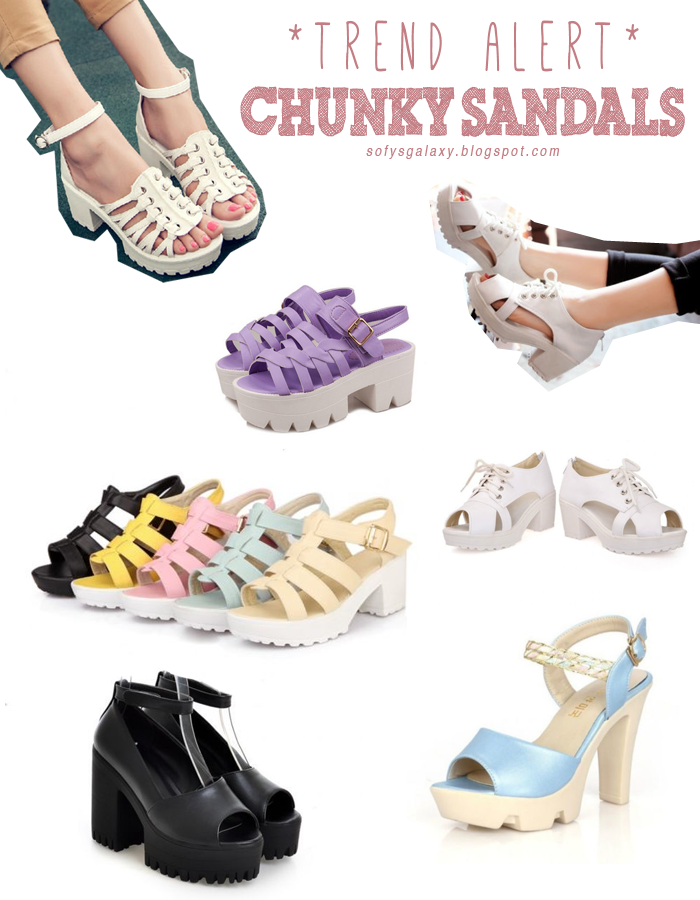Chunky Sandals Collage