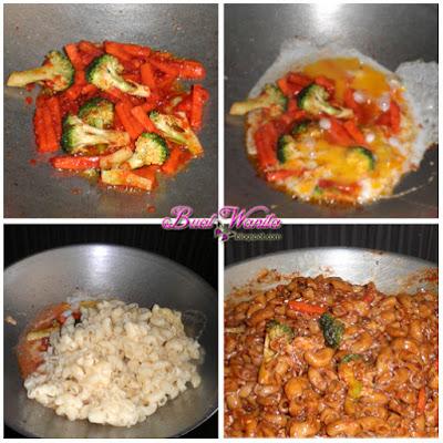 Resepi Mudah Macaroni Goreng Basah Simple. Cara Masak Macaroni Makaroni Sedap Senang