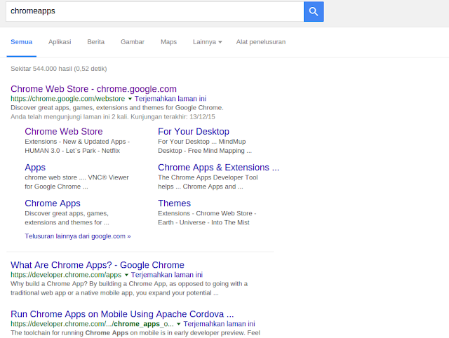 Chrome Web Store From Goole Page