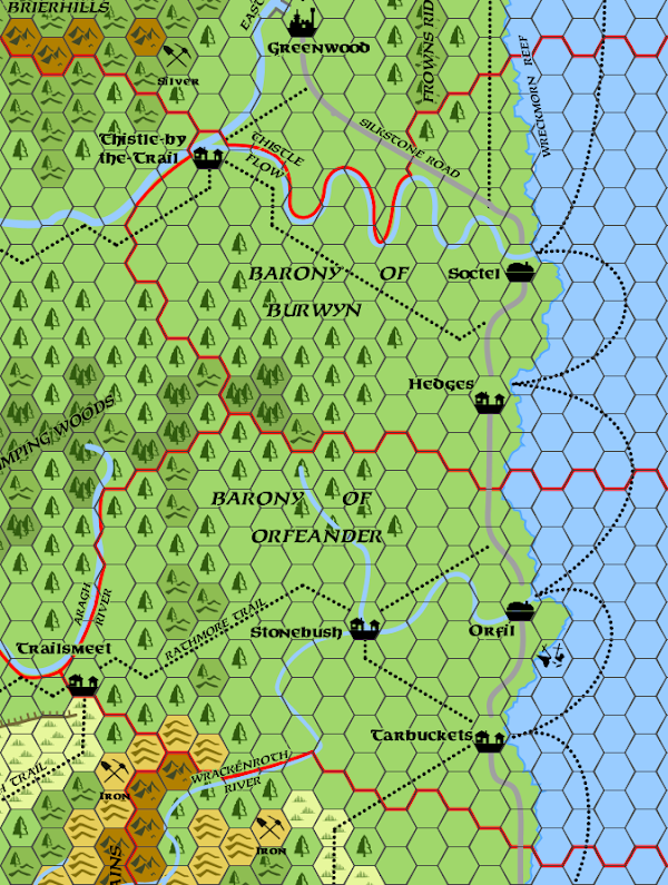 Mystara Alphatia Foresthome Burwyn Orfeander map