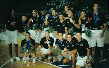 """España """"B"""". Medalla de Bronce. Universiada Palma 1999"""