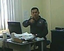 Maj PM Dias Figueiredo, assíduo frequentador do Clube em seu local de trabalho.