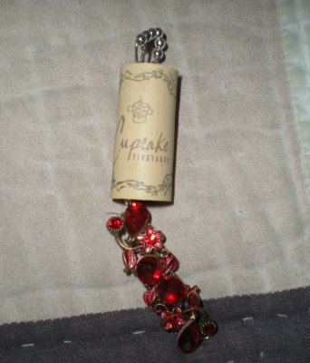 Wine cork memory ornament