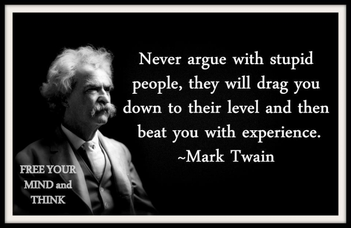 Stupid people – mark twain