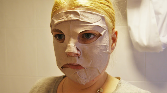 Montagne Jeunesse Brazilian Mud Fabric Mask on Face