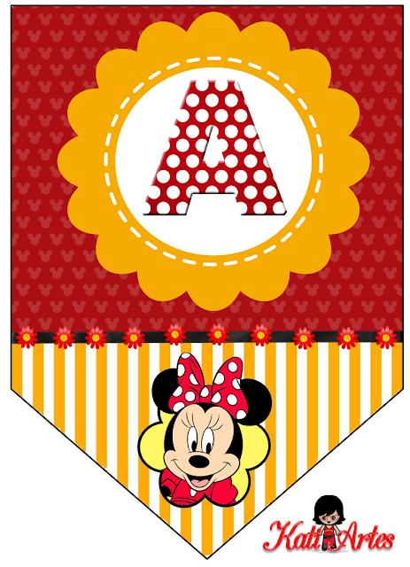 Banderines De Minnie Oh My Alfabetos
