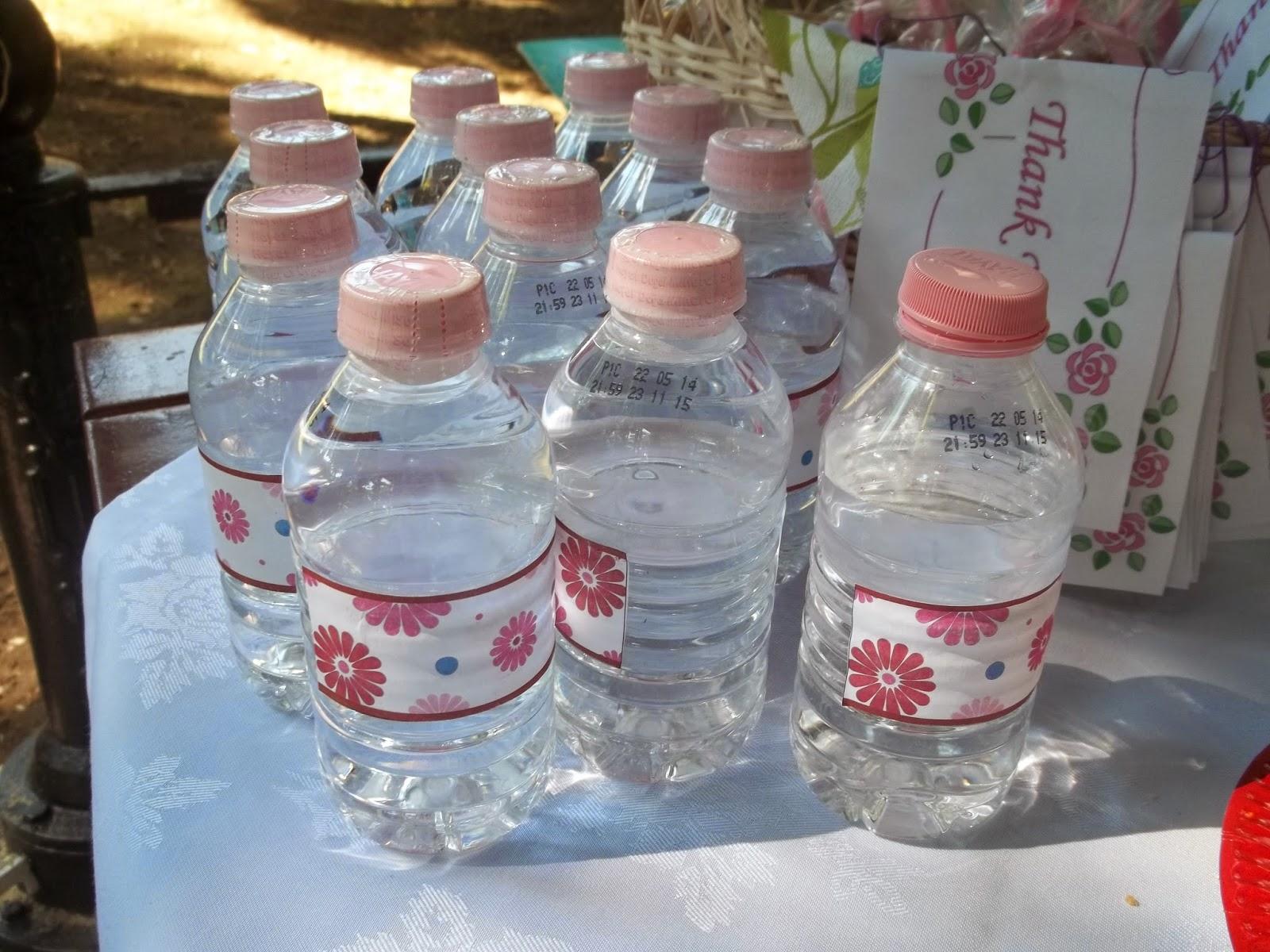 su şişesi süsleme
