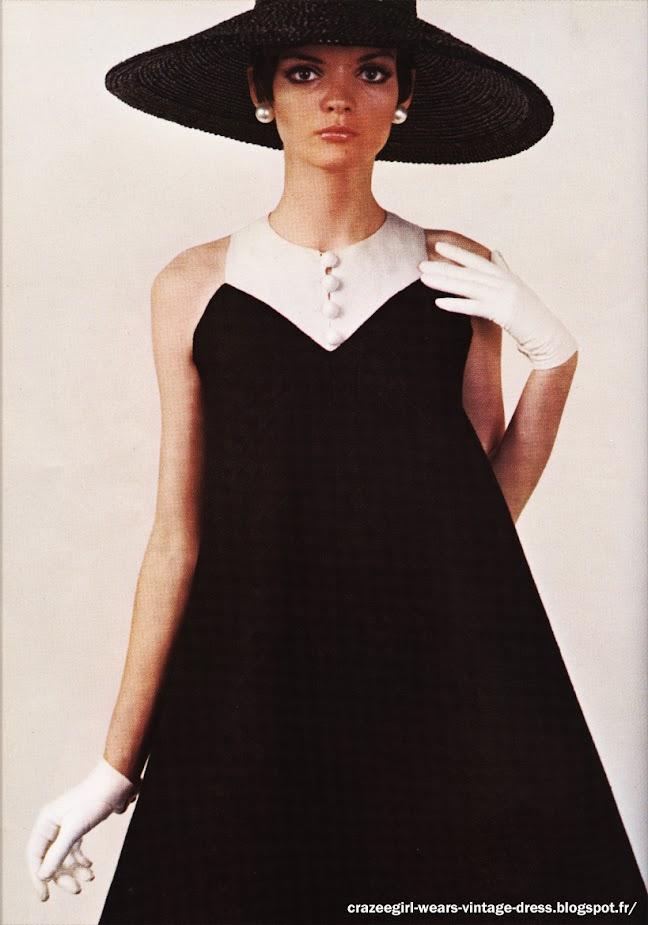 black white dress  jeanne lanvin 1967 60s 1960 geometric