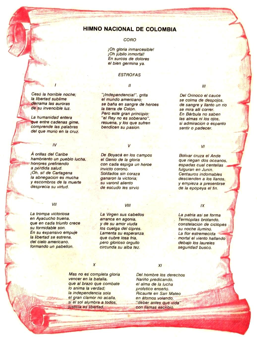 el himno nacional de la republica bolivariana de venezuela: