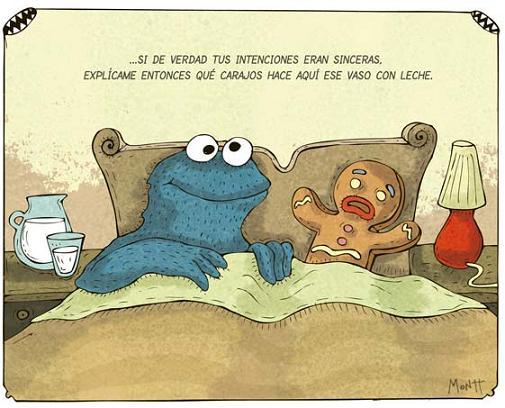 Una mañana desperté casado con una galleta