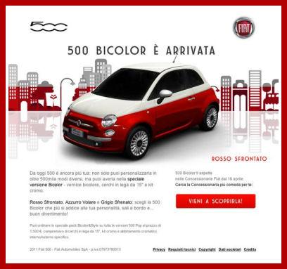 Ooblog FIAT Oo New Fiat Bicolor Website IT - Fiat 500 website