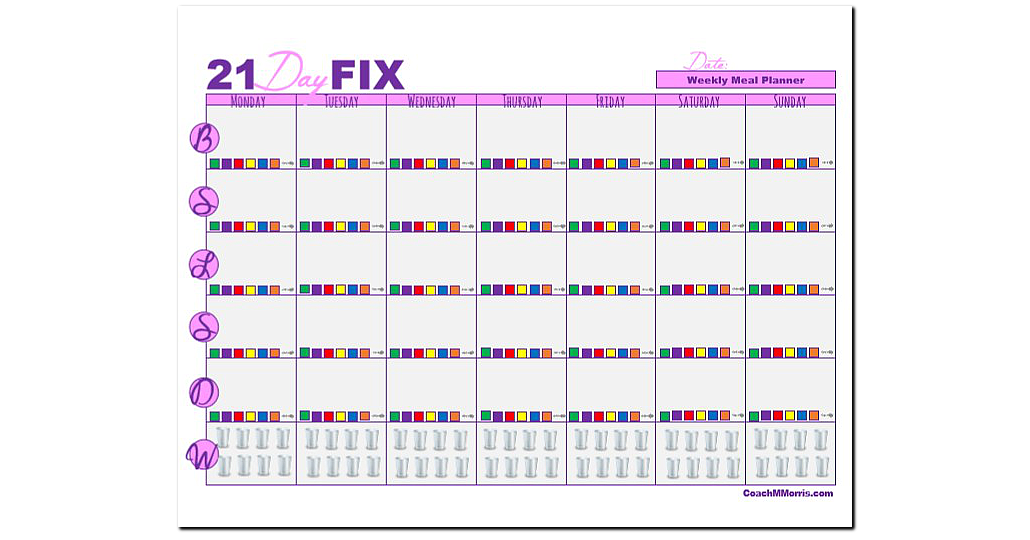 Adorable image pertaining to 21 day fix printable sheets