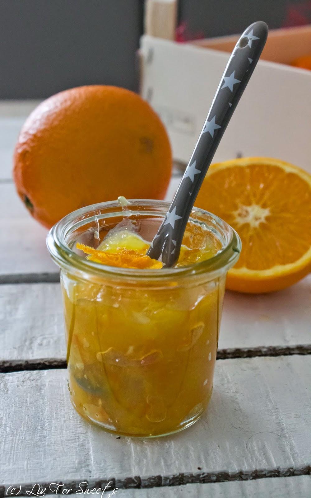 Orangenmarmelade, Lecker Bakery, Rezept