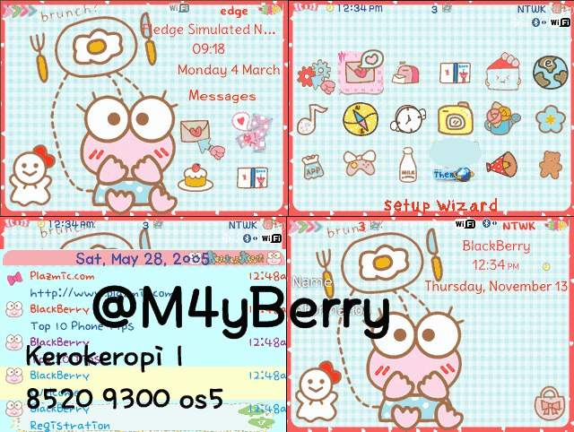 Themes Bblovers / Lily.BBA : KEROPI THEMES FOR 8520 OS5
