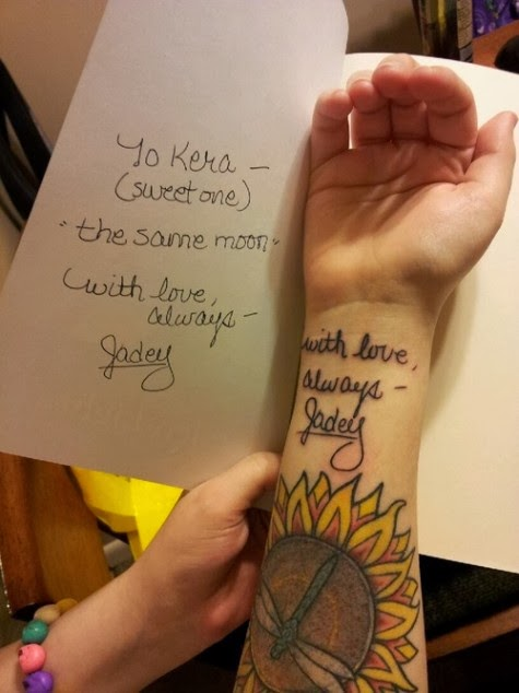 Handwriting Tattoos