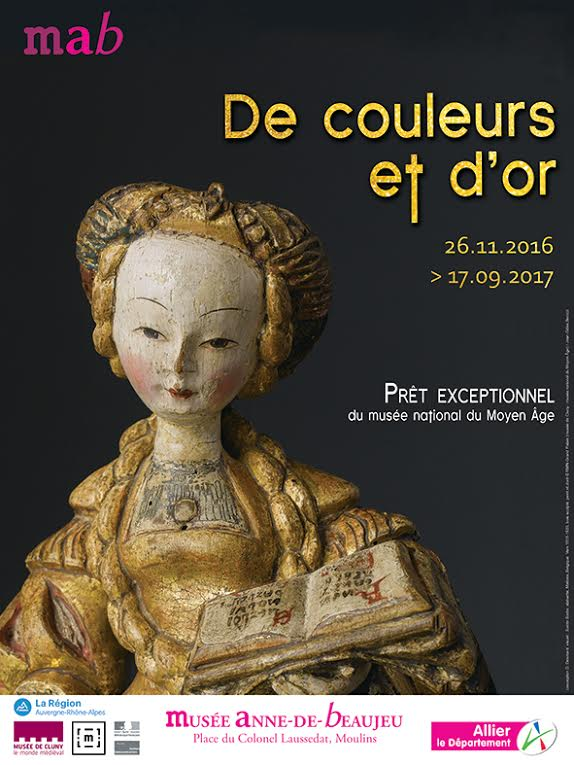 """Exposition """"de couleurs et d'or"""" au musée Anne de Beaujeu"""