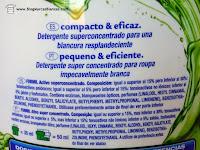 Ingredientes del detergente Formil Activo superconcentrado de Lidl.