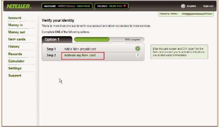 how to verify neteller account