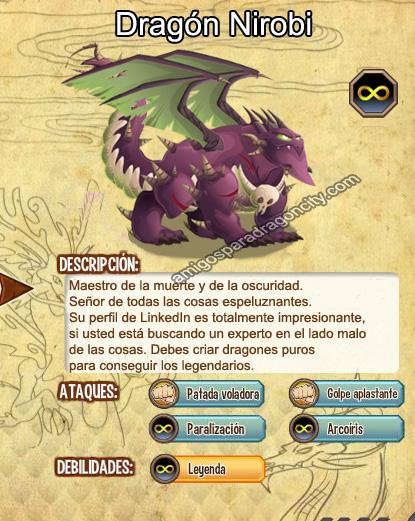 imagen del dragon nirobi y sus caracteristicas