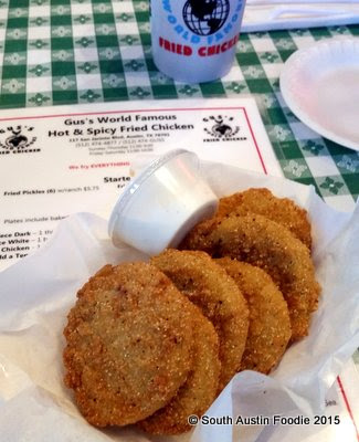 Gus's Fried Chicken -- fried green tomatoes