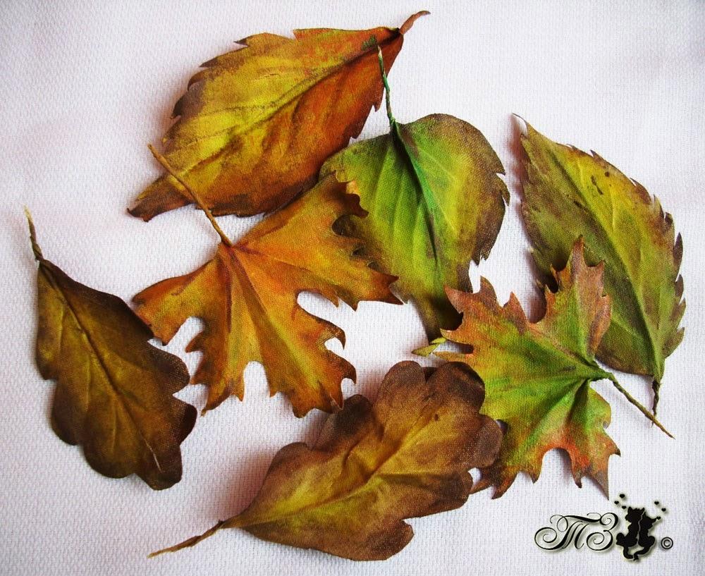 Листья из ткани своими руками
