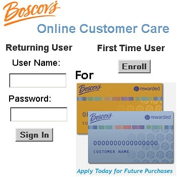 Access Boscov's Credit Card on HRSAccount.com/Boscovs