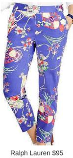 Sydney Fashion Hunter - She Wears The Pants - Ralph Lauren Floral Women's Work Pants