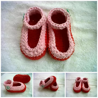 Crochet Baby Booties, Pola Sepatu Bayi Rajut, Pola Rajutan, Cara membuat sepatu bayi