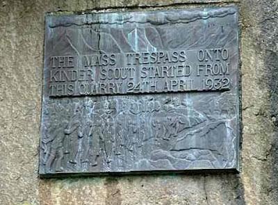 Kinder Scout Trespass Plaque