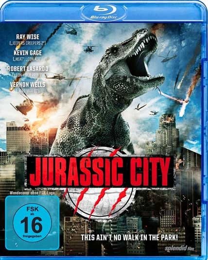 Jurassic City 2014 Dual Audio BRRip 480p 300mb hollywood movie dual audio hindi english compressed small size free download at world4ufree.cc
