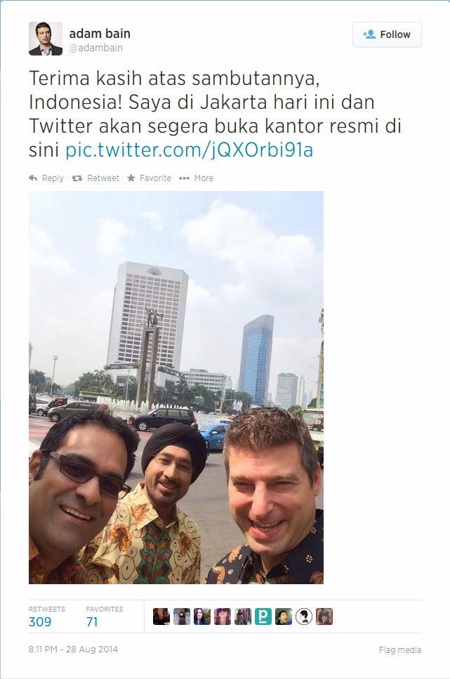 Adam Bain Konfirmasi Buka Kantor Twitter di Indonesia
